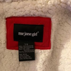 Me Jane Girl Red Jacket Size 7/8 (runs small)